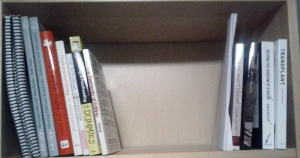 Shelf 1. Editing books