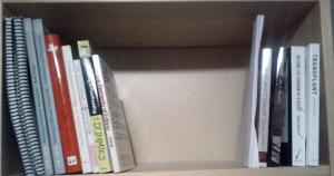 Shelf 1. Editing books