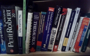 Shelf 5. Language reference books